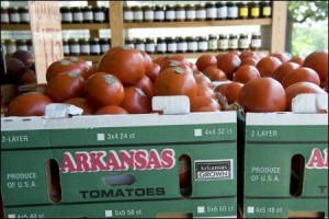 The South Arkansas Vine Ripe Pink Tomato does double duty as the state's official fruit and official vegetable./Arkansas Department of Parks and Tourism