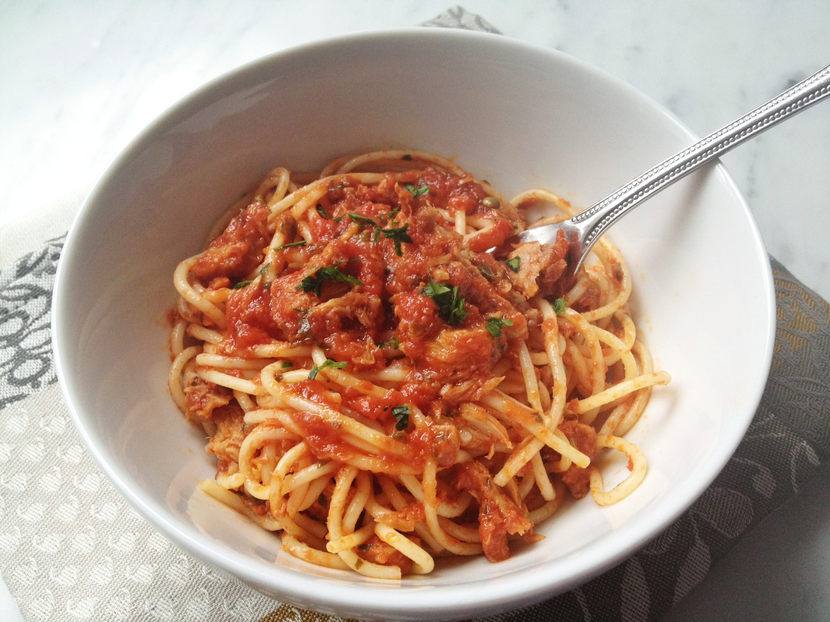 7 Fishes Christmas Eve Italian Recipes.Fedelini With Christmas Eve Tuna Tomato Sauce